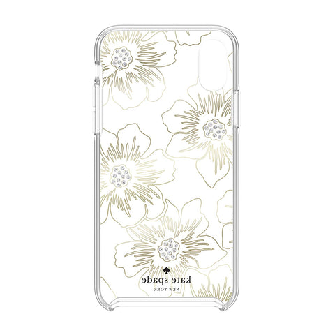 Shop KATE SPADE NEW YORK PROTECTIVE HARDSHELL CASE FOR IPHONE XR - FLORAL PRINT/CLEAR/STONES Cases & Covers from Kate Spade New York