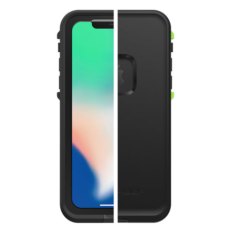 Shop LIFEPROOF FRE WATERPROOF CASE FOR IPHONE X - BLACK/LIME Cases & Covers from Lifeproof