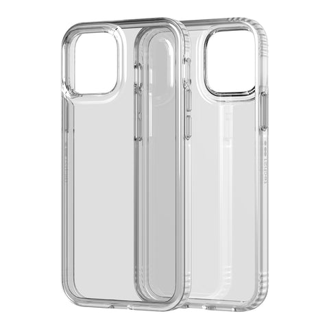 Anti backterial case for your iphone 12 and 12 pro from Tech21. Clear case design with drop protection.
