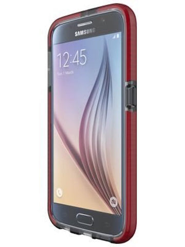 Shop Tech21 Evo Check Case for Galaxy S6 - Smokey/Red Cases & Covers from TECH21