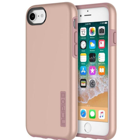 INCIPIO DUALPRO DUAL LAYER PROTECTIVE CASE FOR IPHONE 8/7/6S - IRIDESCENT ROSE GOLD