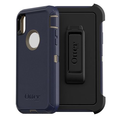 Shop OTTERBOX DEFENDER SCREENLESS EDITION RUGGED CASE FOR  IPHONE XS MAX - DARK LAKE Cases & Covers from Otterbox