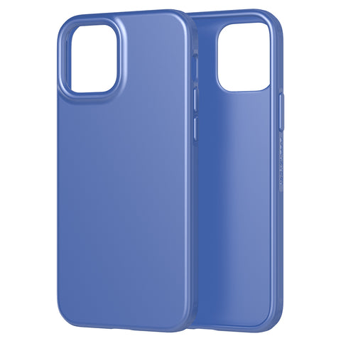 the new case comes with easy to press button and good quality of drop protection ready for your iphone 12 pro/12 with blue color from tech21.