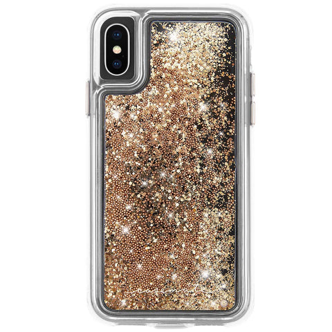 Shop CASEMATE WATERFALL GLITTER CASE FOR IPHONE XS/X - GOLD  from Syntricate Asia