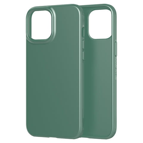 the new case comes with easy to press button and good quality of drop protection ready for your iphone 12 pro max with green color from tech21.