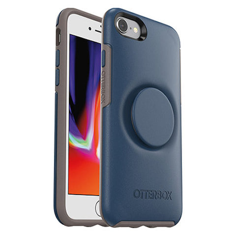 Shop OTTERBOX OTTER + POP SYMMETRY CASE FOR IPHONE 8/7 - GO TO BLUE Cases & Covers from Otterbox
