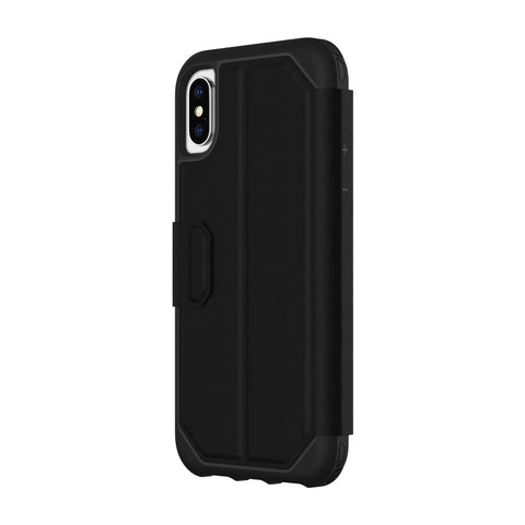 Shop GRIFFIN SURVIVOR STRONG WALLET CARD FOLIO CASE FOR IPHONE XS MAX - BLACK Cases & Covers from Griffin