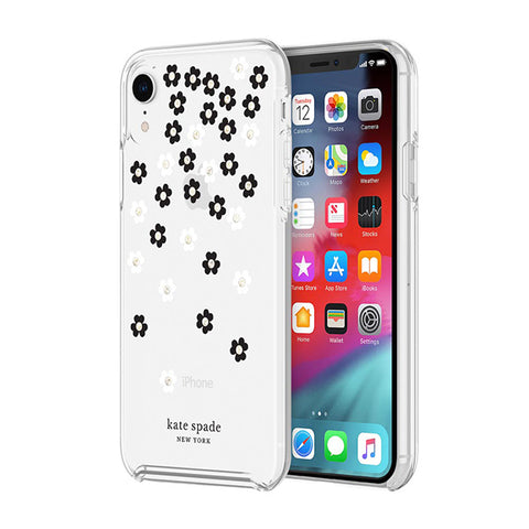 Shop KATE SPADE NEW YORK PROTECTIVE HARDSHELL CASE FOR IPHONE XR- SCATTERED FLOWERS Cases & Covers from Kate Spade New York