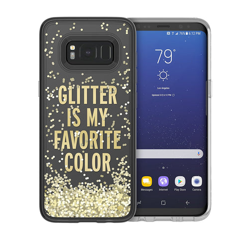 KATE SPADE NEW YORK LIQUID GLITTER CASE FOR GALAXY S8+ (6.2 inch) - GLITTER IS MY FAVOURITE COLOUR
