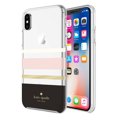 Shop KATE SPADE NEW YORK PROTECTIVE HARDSHELL CASE FOR IPHONE XS/X - CHARLOTTE STRIPE Cases & Covers from Kate Spade New York