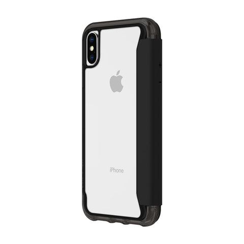 Shop GRIFFIN SURVIVOR CLEAR WALLET CARD FOLIO CASE FOR IPHONE XS MAX - BLACK/CLEAR Cases & Covers from Griffin