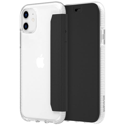 "Shop GRIFFIN Survivor Clear Wallet for iPhone 11 (6.1"") - Clear/Black Cases & Covers from Griffin"