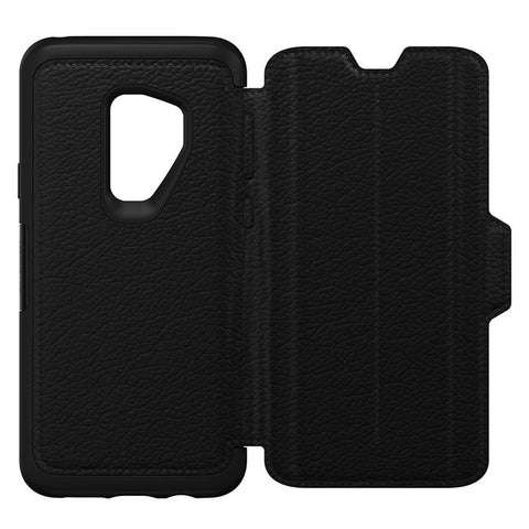 OTTERBOX SYMMETRY STRADA LEATHER FOLIO CASE FOR SAMSUNG GALAXY S9 PLUS - SHADOW