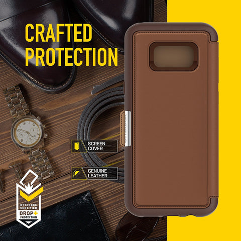 Shop OTTERBOX STRADA PREMIUM LEATHER FOLIO CASE FOR GALAXY S8+ (6.2 inch) - BLACK Cases & Covers from Otterbox