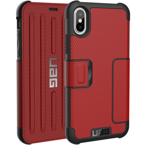 Shop UAG METROPOLIS CARD FOLIO CASE FOR iPHONE XS/ iPHONE X - MAGMA  from Syntricate Asia