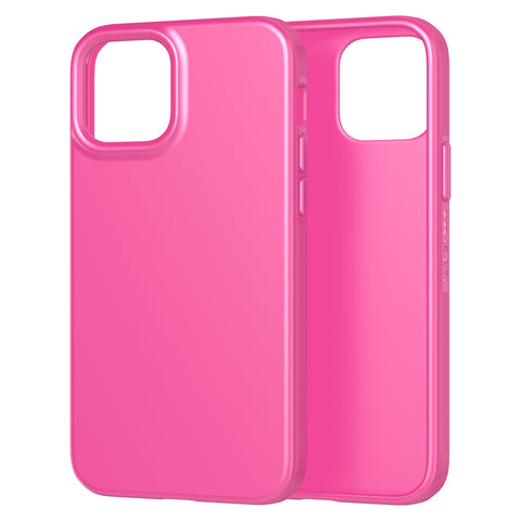 the new case comes with easy to press button and good quality of drop protection ready for your iphone 12 pro/12 with pink fuchsia color from tech21.
