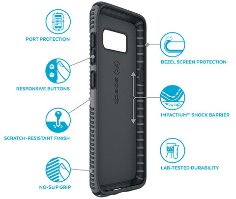 Shop SPECK PRESIDIO IMPACTIUM SLIM GRIP CASE FOR SAMSUNG GALAXY S8 - GRAPHITE GREY  from Syntricate Asia