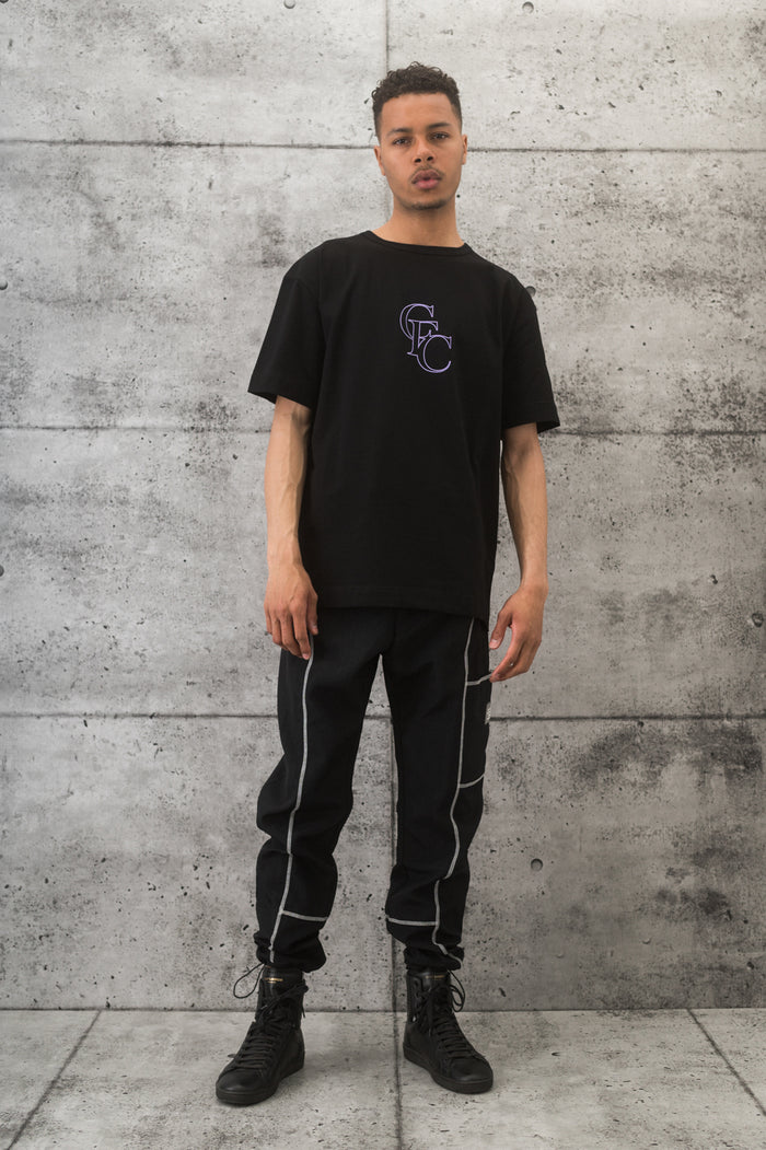 Monogram Tee - Purple/Black