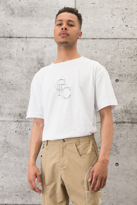 Monogram Tee - White/Black
