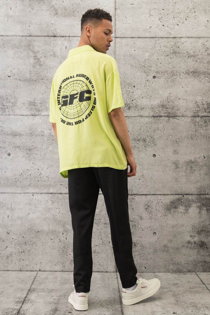 GFC - Int Rudebwoys Resort Tee - Highlight Lime