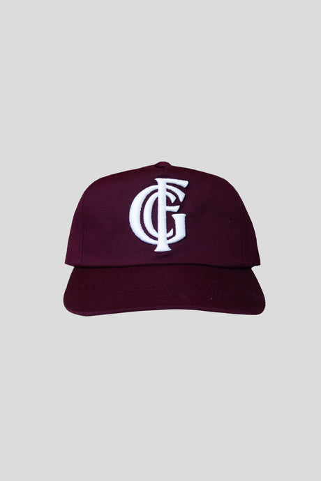 Monogram Hat - Burgandy