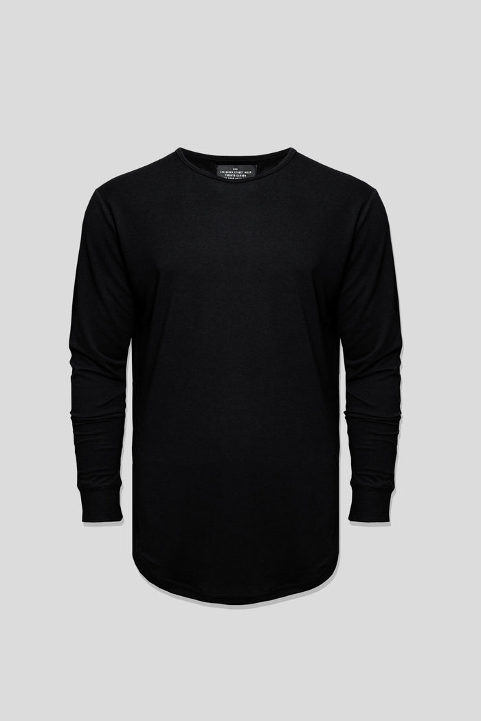 Barebones by GFC - Bamboo Scoop Long Sleeve - Black
