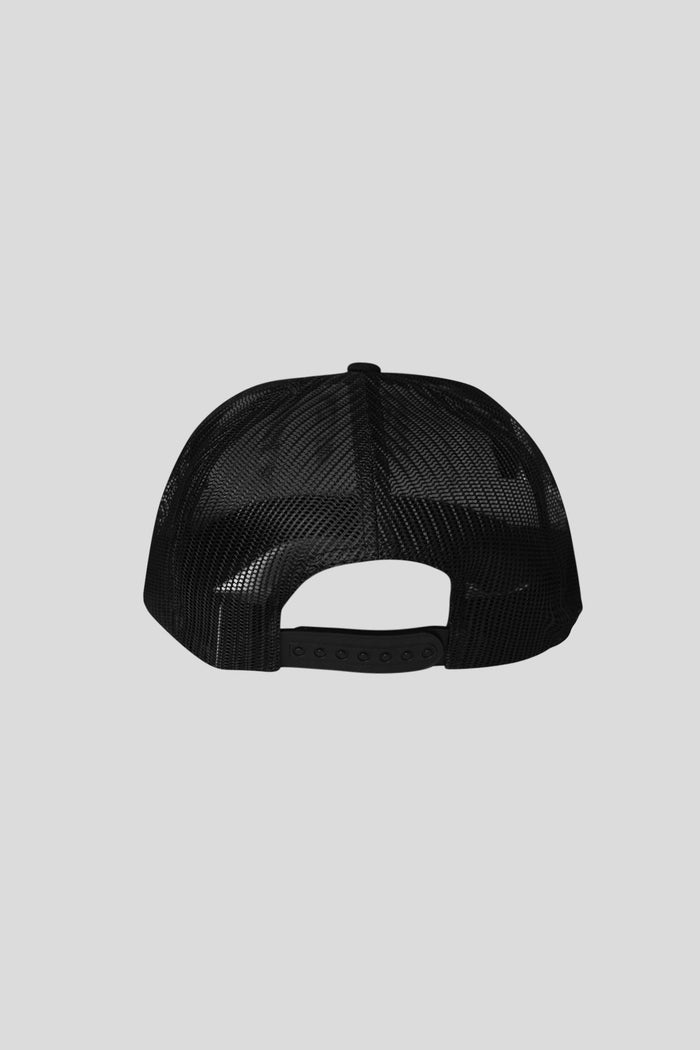 Medallion Trucker Hat - Black