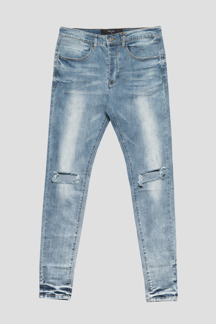 Kollar - Blownout Knee Denim (Sand)