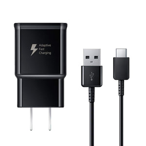 Adaptive Fast Charger for Samsung Galaxy S10 S9 S9 Plus Note 9 S8 Active S8+ Note 8 Tab S3 Plus Cell Phones [Wall Charger + Type-C USB Cable]