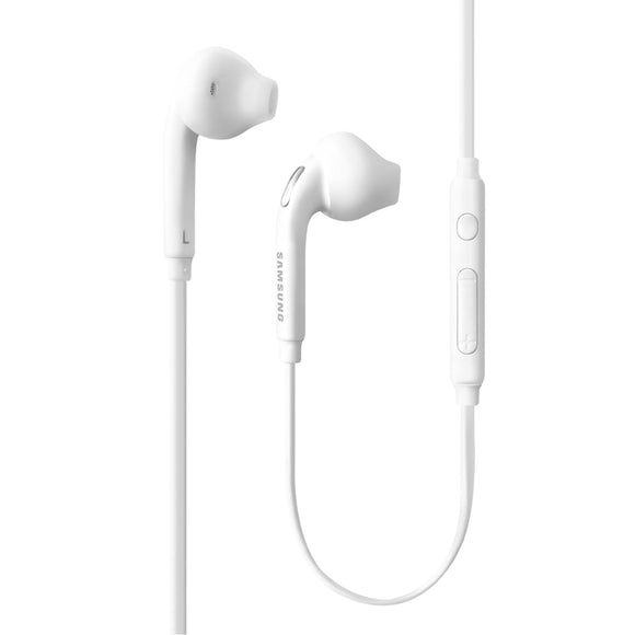 Samsung 3.5mm Earbud Stereo Quality Headphones for Galaxy S6 / S6 Edge EO-EG920BW - Comes with Extra Eal Gels!