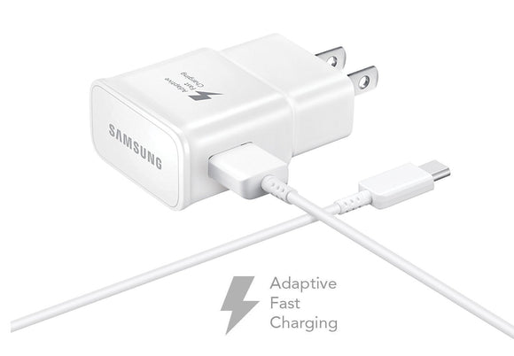 Samsung Galaxy S8 Adaptive Fast Charger Type C Cable Kit! [1 Wall Charger + 4 FT Type C USB Cable] Adaptive Fast Charging uses dual voltages for up to 50% faster charging! - Bulk Packaging