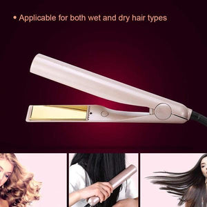 2-In-1 Hair Curler & Straightener