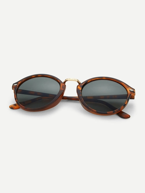 Womens Leopard Frame Sunglasses