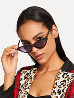 Womens Leopard Frame Cat Eye Sunglasses