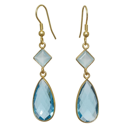 Gold-overlay Glass Earrings