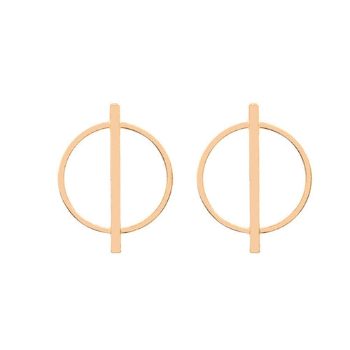 Edgy fashion everyday circle earrings