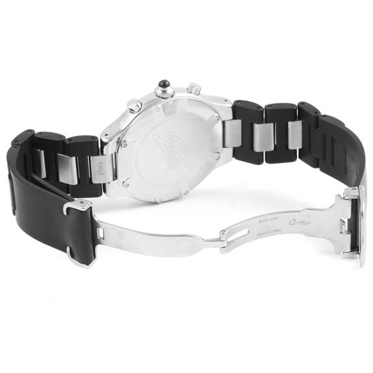 Cartier Grey Must 21 Chronoscaph Black Rubber Strap Mens Watch