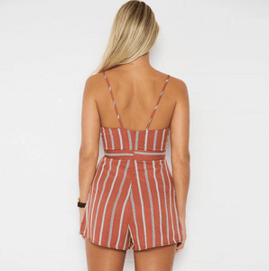 Orange Stripe Romper