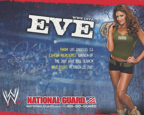 Autograph Poster - Eve for National Guard