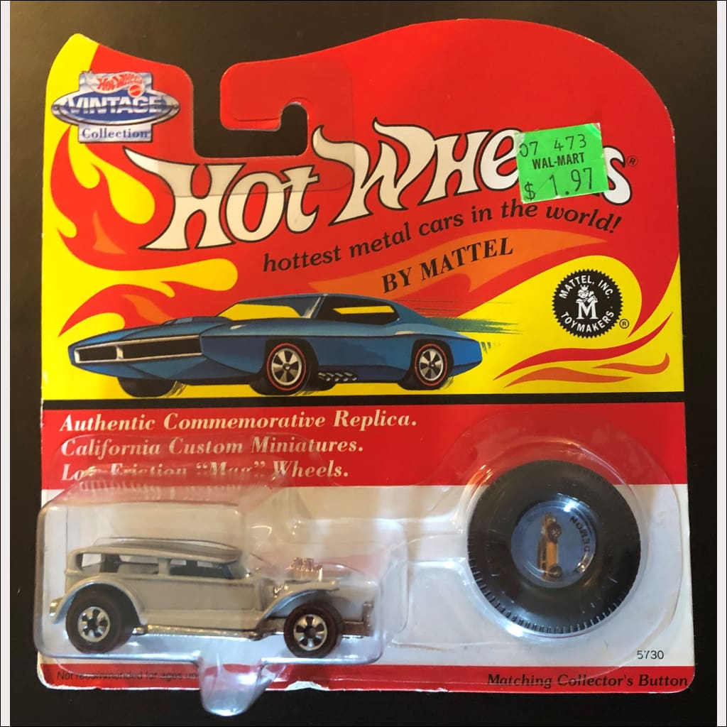 1993 Hot Wheels Vintage Collection The Demon Die Cast 5730 With Collector Button