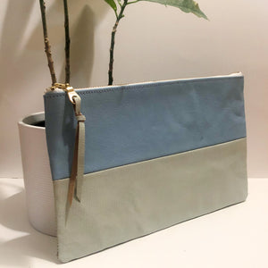 The Color-Block (Pastel Blue and Pastel Green Leather)