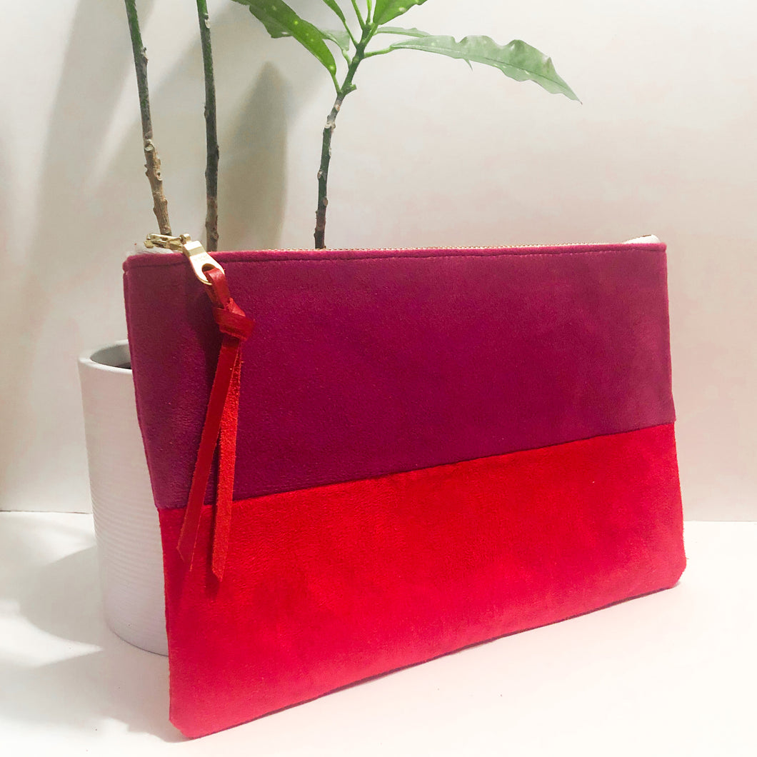 The Color-Block (Magenta and Red Velvet)