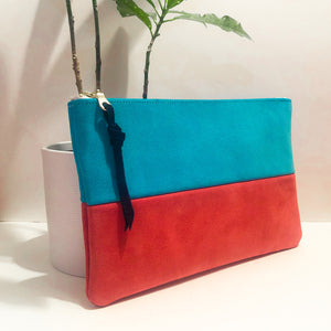 The Color-Block (Bright Blue and Pink Suede)