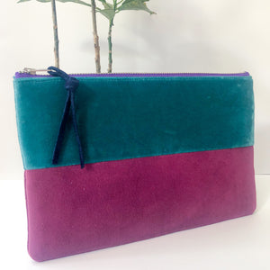 The Color-Block (Teal and Magenta Velvet)