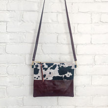 Load image into Gallery viewer, Crossbody Leather Bag (Cow Hair, Maroon)
