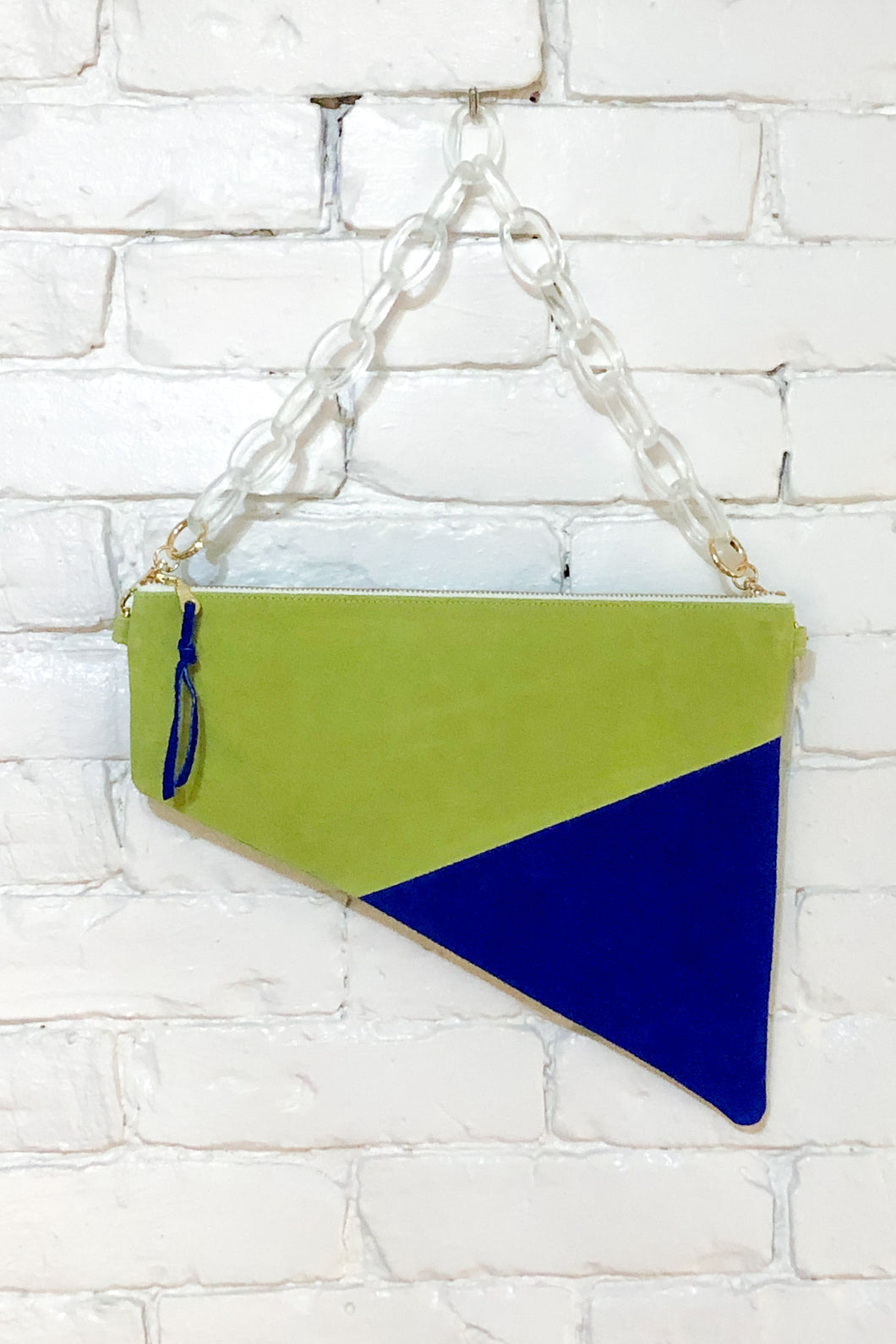 The Trapezoid (Celery, Royal, and Teal w/ Handle)