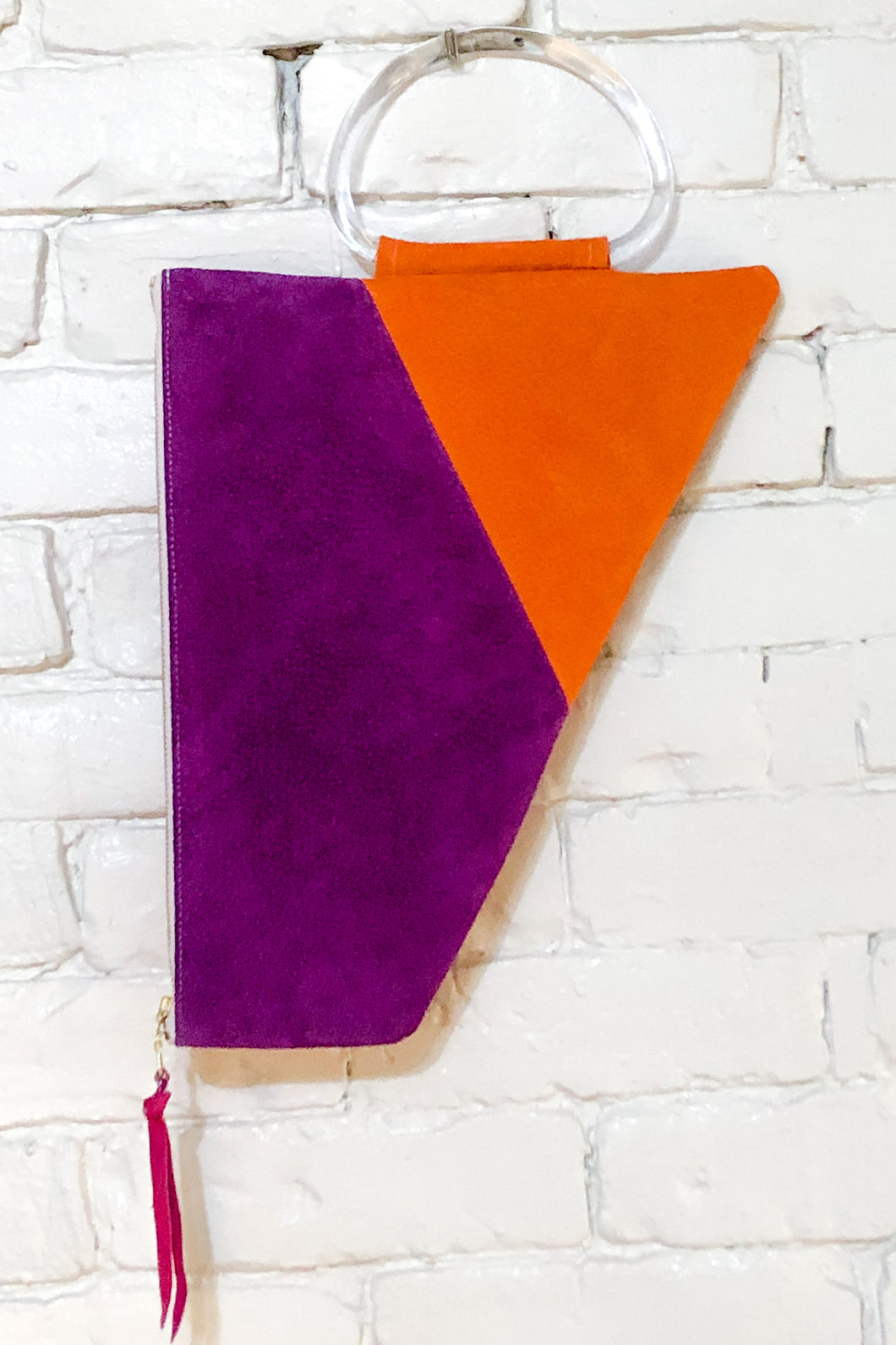 The Trapezoid (Apricot and Plum w/ Handle)