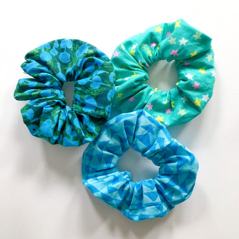 3-Pack Scrunchie Set (Cool Azure)