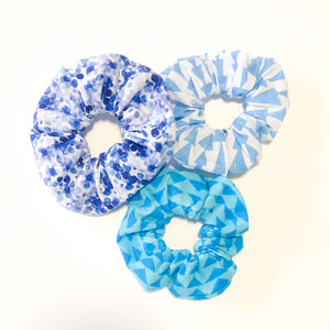 3-Pack Scrunchie Set (The Blues)