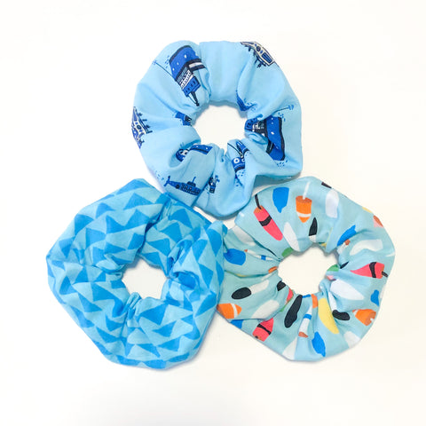 3-Pack Scrunchie Set (Into The Ocean)